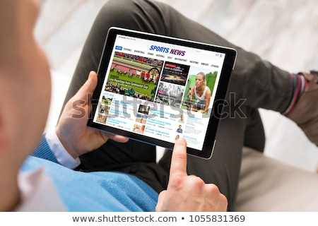 Stok fotoğraf: Spor · haber · gazete · rulo · beyaz