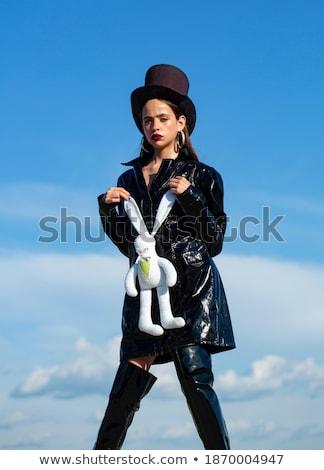 Model speelgoed bunny mooie topless blond Stockfoto © zastavkin