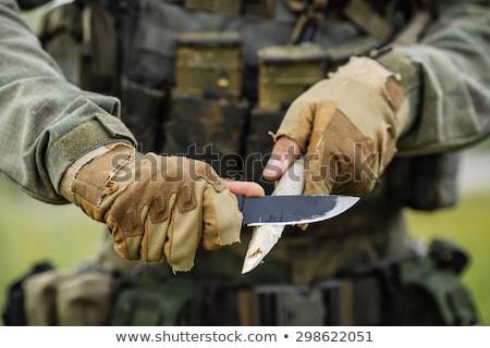 büyük · bıçak · bıçak · kavga · ordu · düğme - stok fotoğraf © ozaiachin