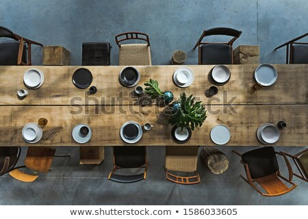 modern armchair isolated on black background stock photo © victoria_andreas