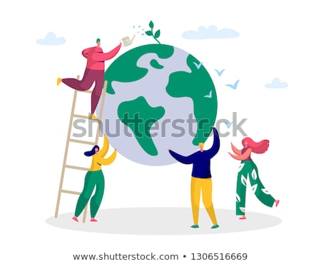 The symbol of Save Green Planet stock photo © vlad_star
