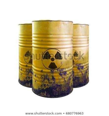 Radioactifs baril jaune rouge radioactivité symbole Photo stock © ThreeArt