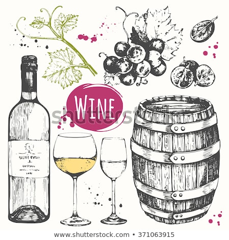 şarap şişesi şarap kadehi detay dekoratif şarap şişeler Stok fotoğraf © justinb
