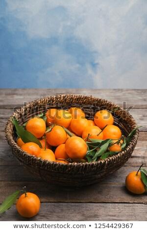 maduro · tangerina · mandarim · fatias · branco · fatia - foto stock © grafvision