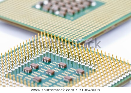 Two old processor with the gold contact Stock photo © RuslanOmega