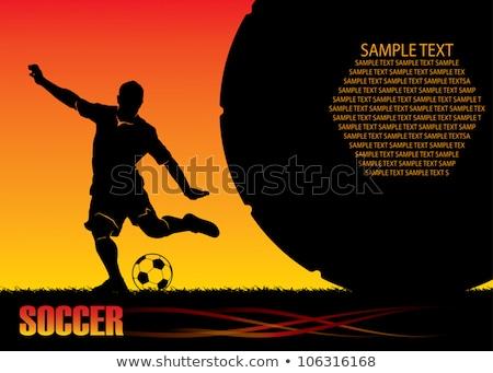 Foto stock: Fútbol · plantilla · llamas · vector · imagen · gráfico