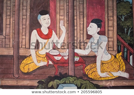 Thai Mural Painting on the wall from temple in Thailand       stock photo © jakgree_inkliang