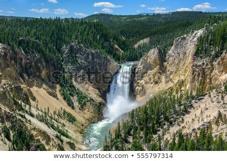 Lower Falls of the Yellowstone River, Wyoming Stock photo © Kenneth_Keifer