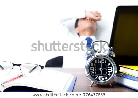 Chronométrage blanche technologie bleu acier Photo stock © RuslanOmega