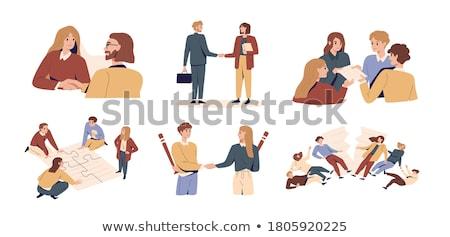 Negocios nombramiento hombre reunión trabajo escritorio Foto stock © photography33