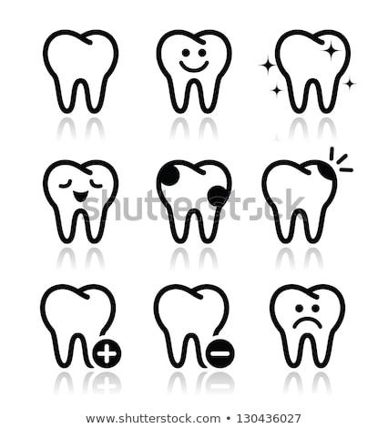 diente · pulgar · hasta · feliz · médicos · salud - foto stock © pathakdesigner