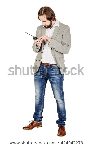 Stock photo: Chief Security Officer Communicating Through His Walkie Talkie