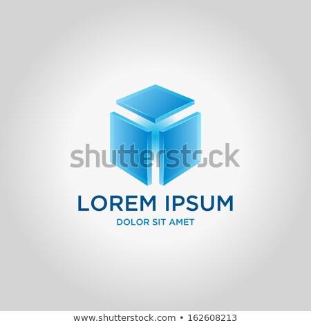 blue innovation in glass blocks Stock photo © marinini