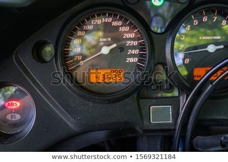 Snelheidsmeter snelweg gestileerde track snelheid Stockfoto © idesign