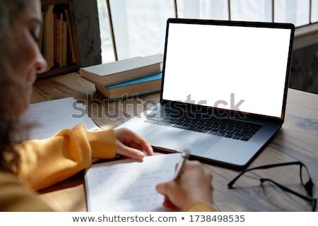 jonge · vrouw · school · boeken · teen · Maakt · een · reservekopie · college - stockfoto © photography33