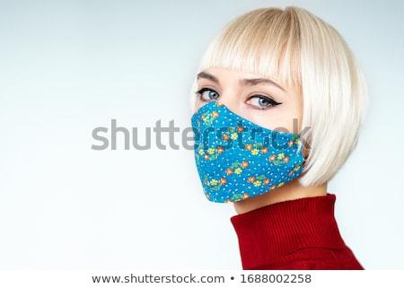 Beautiful woman with floral stock photo © anastasiya_popov