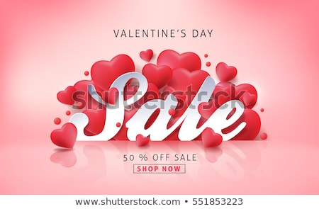 valentines special offer red heart banner stock photo © marinini