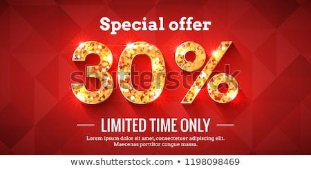 30 · pourcentage · vente · rouge · bannière - photo stock © marinini