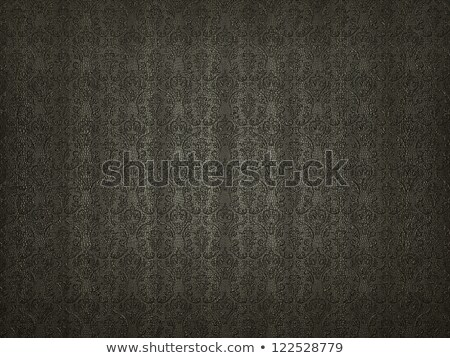 Black Leather background with impression victorian pattern Stock photo © Arsgera