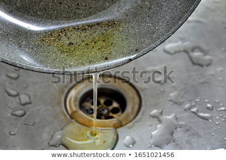 Stock photo:  sink drain