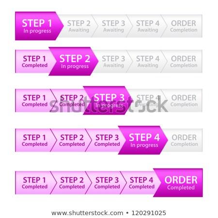 розовый прогресс Бар порядка процесс пять Сток-фото © liliwhite