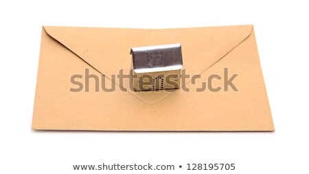 ev · nesne · kahverengi · zarf · imzalamak - stok fotoğraf © inxti