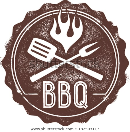 Vintage style barbecue bbq timbres ensemble Photo stock © squarelogo