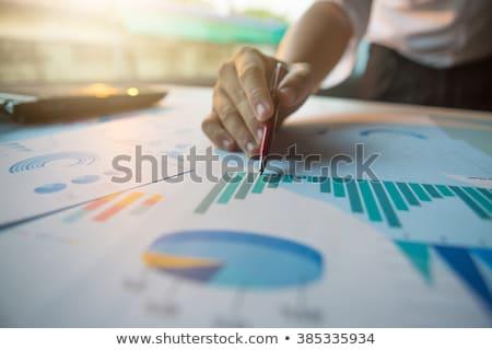 анализ · кнопки · современных · слово · бизнеса - Сток-фото © tashatuvango