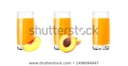 vidro · pêssego · suco · isolado · branco · comida - foto stock © Masha