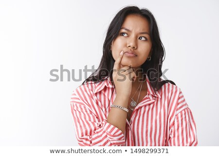 Zamyślony kobiet przedsiębiorca biały pracy Zdjęcia stock © wavebreak_media