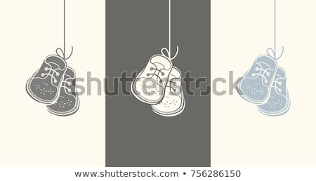 Pair of leather baby shoes Stock photo © RuslanOmega