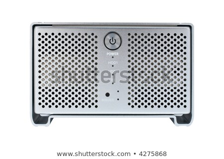 external hard drive front view stock photo © winterling
