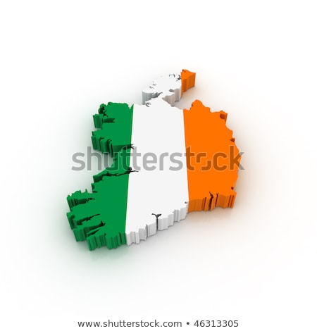 Ireland Map Flag 3d Shape Stock photo © NiroDesign
