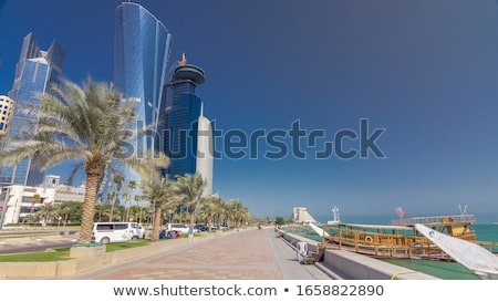 Doha's Corniche in West Bay is a popular exercise location stock photo © SophieJames
