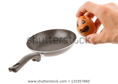 Scared egg, waiting to be fried in a pan stock photo © michaklootwijk