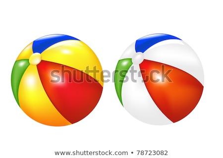 Kettő strandlabda labda Stock fotó © zzve