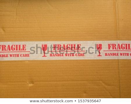 Гранж цвета хрупкий символ картона бизнеса Сток-фото © Kheat