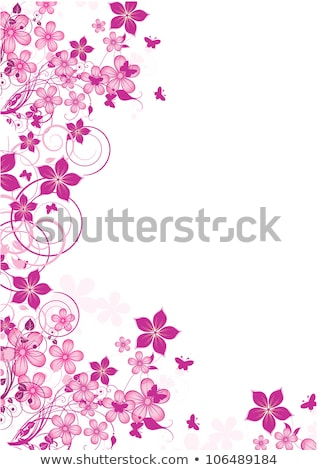 Abstract Grunge Background with flowers and butterfly Stock photo © WaD