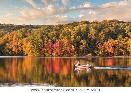 Connecticut outono cena lago Foto stock © ArenaCreative
