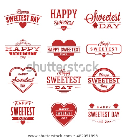 Foto stock: candy valentines sweet red hearth