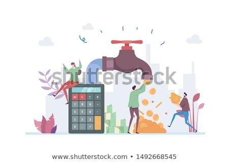 atual · vermelho · branco · dinheiro - foto stock © badmanproduction