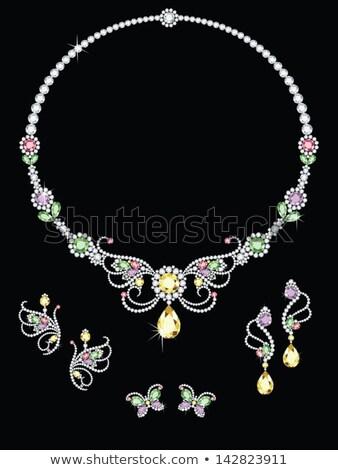 Colore pietre gioielli viola texture amore Foto d'archivio © lunamarina