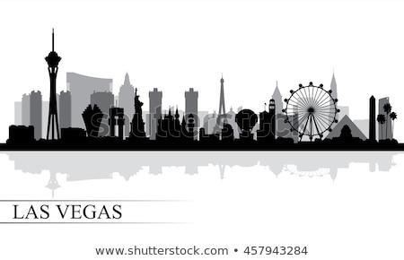 Las · Vegas · sziluett · iroda · város · terv · híd - stock fotó © compuinfoto