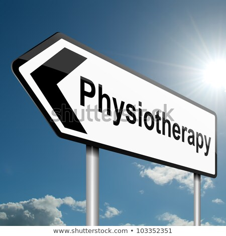 Physiotherapy Roadsign. Medical Concept. Stock photo © tashatuvango