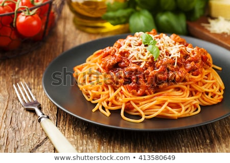 spaghetti with bolognese sauce Stock photo © Marfot