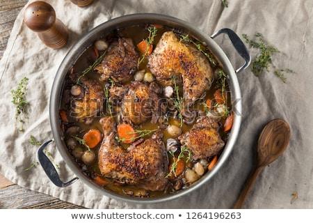 yemek · akşam · yemeği · sebze · yemek · horoz · çatal · bıçak · takımı - stok fotoğraf © travelphotography