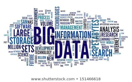 ビッグ データ 言葉 赤 色 ストックフォト © tashatuvango