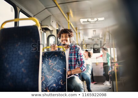 Young man driving tram Stock photo © photography33