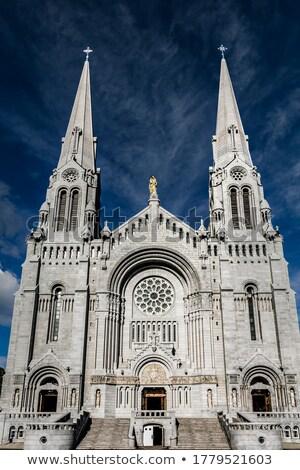 Bazilika Quebec şehir Kanada kilise mavi Stok fotoğraf © RAM