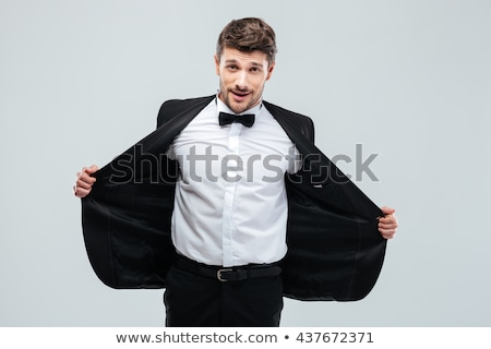 young business man taking suit jacket off Stock photo © feedough